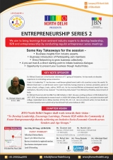 Nahar JBN Entrepreneurship series-2 - JITO North Delhi Chapter