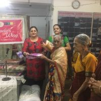 Ladies wing Distribute saree at old age home - Chennai