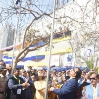 Flag hoisting of National flag